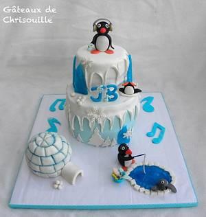 Pingu - Cake by Gâteaux de Chrisouille