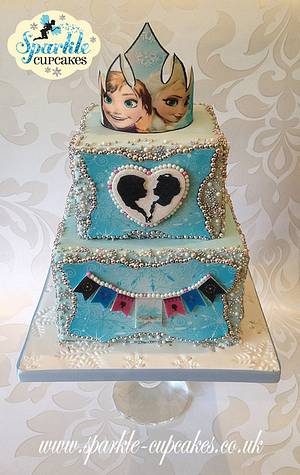 Regal Frozen 'Sisters' Birthday Cake - Cake by Sparkle Cupcakes