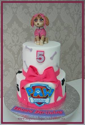 Skye - Paw Patrol - Cake by Mel_SugarandSpiceCakes