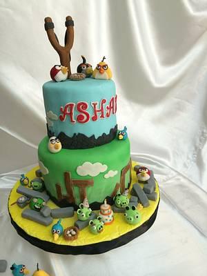 angry bird cake - Cake by Shaki Faisal
