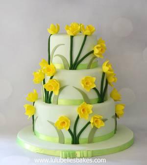Daffodil cake - Cake by Lulubelle's Bakes