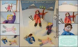 skiing themed birthday cake - Cake by Forgoodnesscake