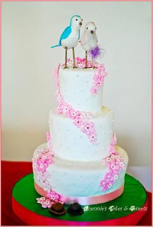Bird Wedding Cake - Cake by quennie