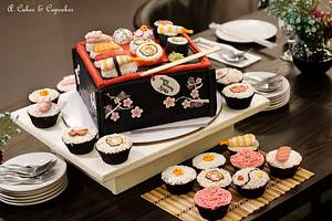 Sushi  bento box - Cake by Alfred (A. Cakes & Cupcakes)