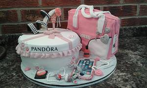 Its all about the girl........... - Cake by Karen's Kakery