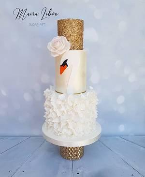 Swan cake - Cake by Maira Liboa