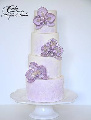 Stylized Orchides - Cake by Cake Creations by ME - Mayra Estrada