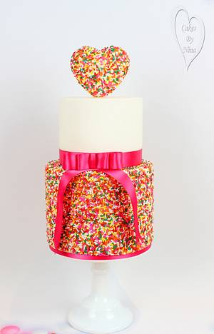 Sprinkles of love  - Cake by Nina