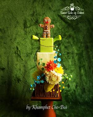 Shrek & Gingy - CPC  I'm A Believer Collaboration  - Cake by Sweet Side of Cakes by Khamphet