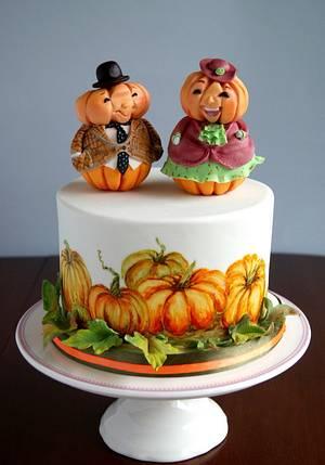 Mr. and Mrs. Pumpkin - Cake by Katarzynka