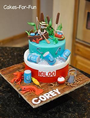 Fishing Birthday Cake - Cake by Cakes For Fun