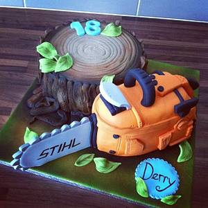 Chainsaw Cake - Cake by Licky Lips Cakes