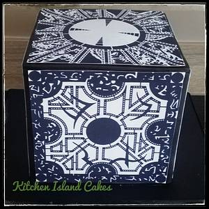 Hellraiser Cube - Cake by Kitchen Island Cakes
