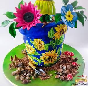 Dougie The Sunflower Cake  - Cake by Calli Creations