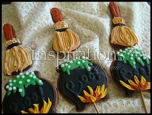 Witch pot lollipop cookie - Cake by Inspiration by Carmen Urbano