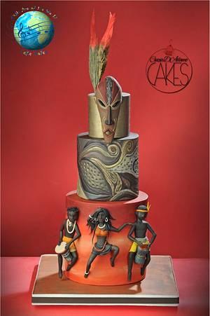 "Music Around The World ""Tribal Music"" - Cake by D'Adamo Cinzia"