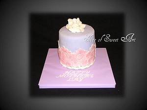 Rose Mother's Day Cake - Cake by Slice of Sweet Art