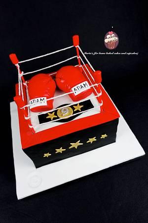 Boxing Ring Cake - Cake by Maria's