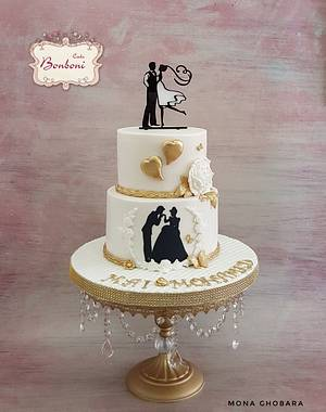Engagement cake - Cake by mona ghobara/Bonboni Cake