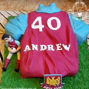 West Ham shirt - Cake by Love it cakes