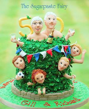 Naked Gardeners!?! - Cake by The Sugarpaste Fairy