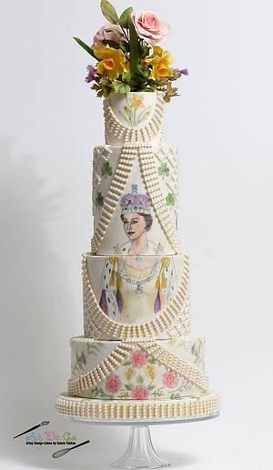 Couture Cakers Int.: Queen Elizabeth II's Coronation Outfit  - Cake by Gulcin Tekkas