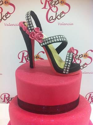Valencia Fucsia Stiletto - Cake by THE CAKE PROJECT MADRID