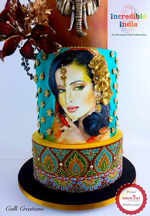 Incredible India Collaboration - Wedding Cake - Cake by Calli Creations
