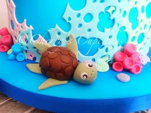 Scuba Divers - Cake by Cherry's Cupcakes