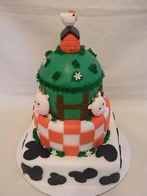 Farm Theme Baby Shower Cake - Cake by LadyCakes