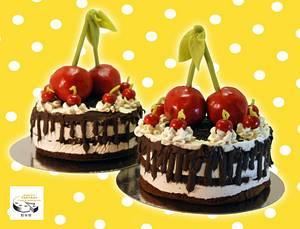 cherrycake - Cake by Aurelia'sTartArt