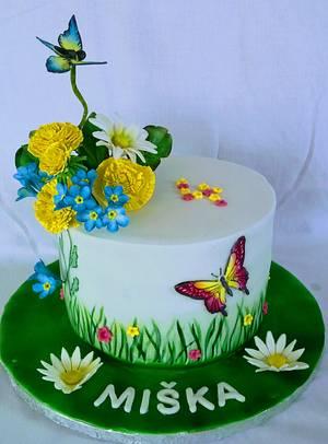 Spring flowers - Cake by alenascakes