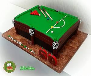 Snooker billiard cake  - Cake by Gele's Cookies
