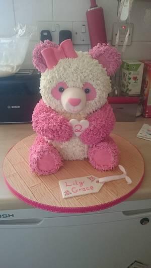 Pink Panda 🐼  - Cake by SugarMagicCakes (Christine)