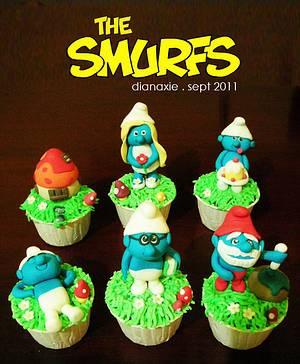 The Smurfs - Cake by Diana