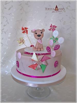 Cute dog - Cake by Tortolandia
