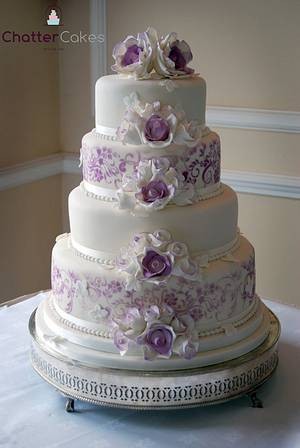 Violet vintage cake - Cake by Chatter Cakes