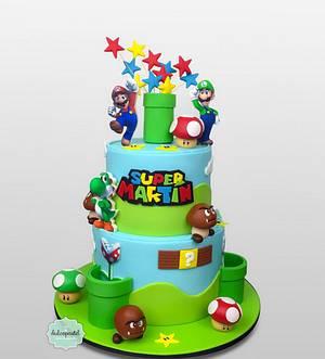 Torta de Mario bros Cake - Cake by Dulcepastel.com