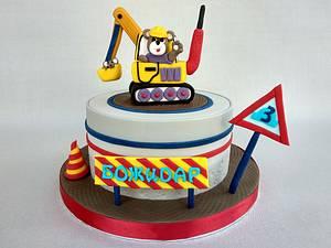 Excavator cake - Cake by Diana