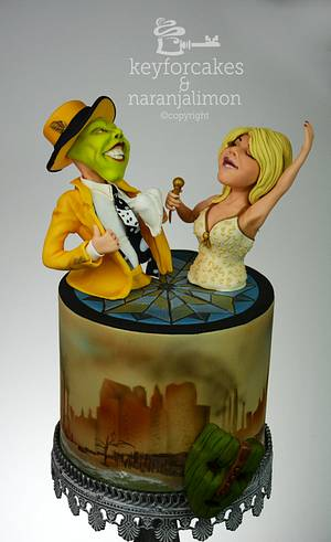The Mask (Be My Valentine! movie nights collab) - Cake by Nicola Keysselitz