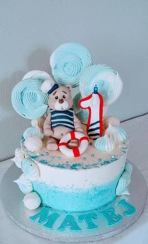 Creamy cake with sailor - Cake by alenascakes