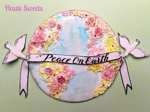 Piece on Earth cookie for Cakes Against Violence - Cake by Hiromi Greer