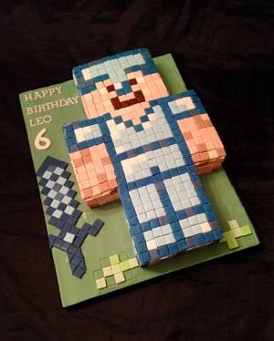 Minecraft Warrior - Cake by Caron Eveleigh