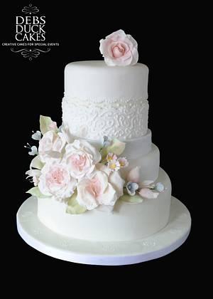 Pastel Flower Cake - Cake by DebsDuckCakes