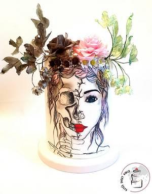 She is Dying  - Cake by Katarzyna Rarok