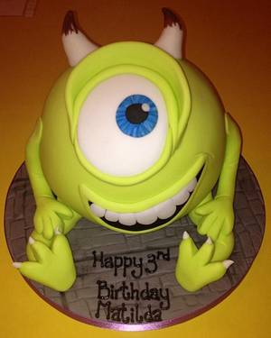Mike - Monsters Inc - Cake by The Cake Lady