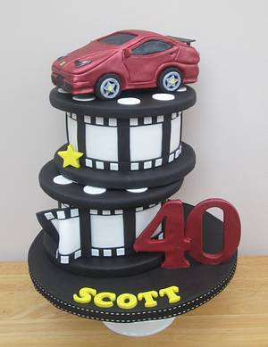 Film Reels - Cake by The Buttercream Pantry