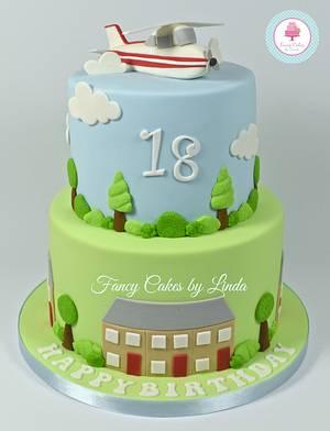Aeroplane Themed Birthday Cake (Airplane) - Cake by Ceri Badham