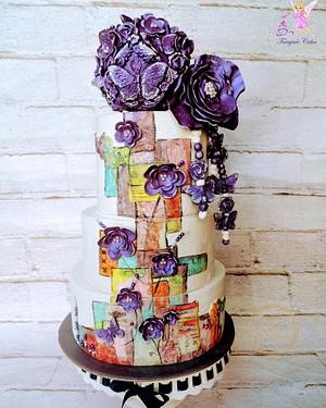 Caker Buddies Collaboration: The Violet Butterfly - Cake by Nidsy