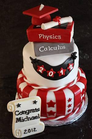 High School Graduation Cake - Cake by Pam and Nina's Crafty Cakes